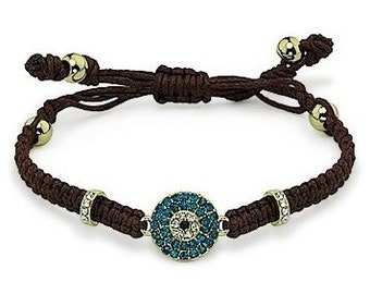 Crystal Evil Eye Bracelet, Evil Eye Friendship Bracelet