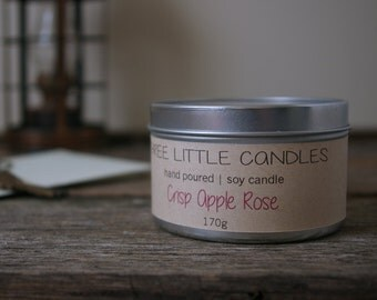 Scented 8oz Tin Soy Candle