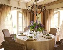 """Floor length burlap table cloth Rectangle 102"""" for width x 144"""""""