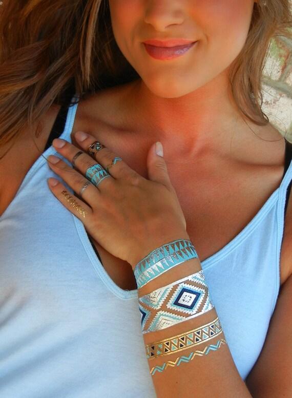 Tribal Jewelry Tribal Bracelet Tribal Temporary Tattoo