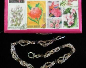 Woodland Garden Necklace, Pink
