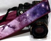 Galaxy Camera Strap, Cosmos Camera Strap, Space Camera Strap, Blue Purple Camera Strap, Nikon, Canon Camera Strap, Women Accessories