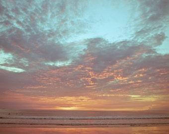 Empty Beach at Sunset, Fine Art Photograph