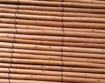 Peeled Willow Fence Screen, 2' H x 8'L, Light Mahogany Color, CWF-28