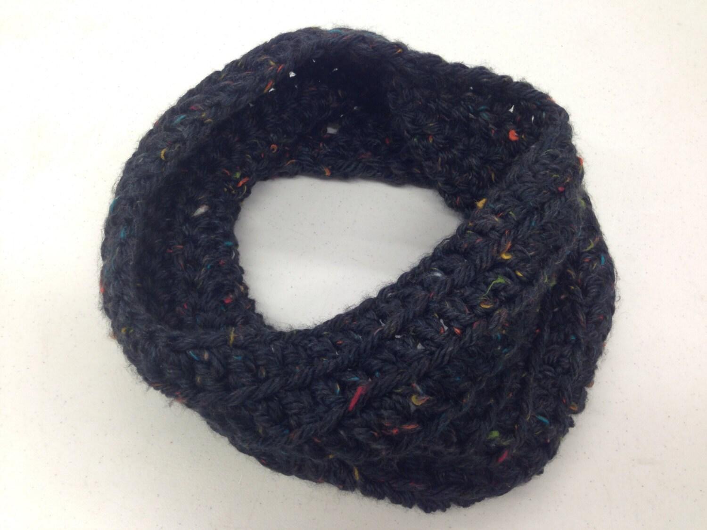 short chunky cowl 100  handmade crochet color  cambridge