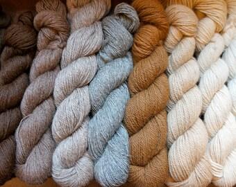 Pure Alpaca Yarn in a 200 yard skein