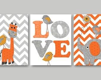 Giraffe Nursery Print Printable Wall Art Elephant Nursery Boy Nursery Printable Decor Digital Print set of 3 8x10 11X14 INSTANT DOWNLOAD