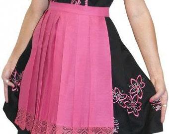 3-Piece Short Black German Dirndl Dress 0 2 4 6 8 10 14 16 18 20 22 XS S M L XL