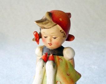 Hummel 47 / 3 / 0 Goose Girl - TMK 2 - 4 inch - Goebel Hummel Figurine - Goebel Figurine - Girl Hummel Collectible Figurine - Trademark 2