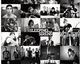 Sleeping with sirens poster print for Sleeping with sirens coloring pages