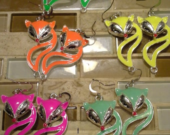 SALE!!   was 7.00   now 3.75   50% OFF!!   Foxy Earrings