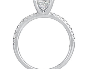 1.38 CT Round Cut d/si1 Diamond Solitaire Engagement Ring 14k