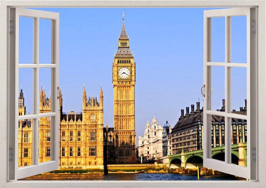 Big Ban Wall Sticker D Window London Wall Decal UK For Home - Window stickers for home uk