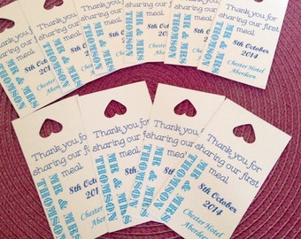 Personalised Thank you tags