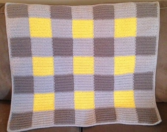 Crochet Gingham Baby Blanket Pattern - PDF Download