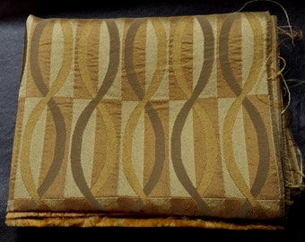 Shades of Gold Patterned Fabric- B9