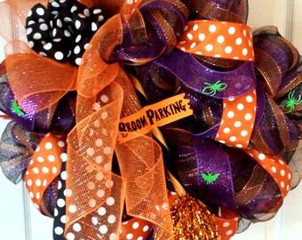 Whimsical Deco Mesh Halloween Wreath, item #1