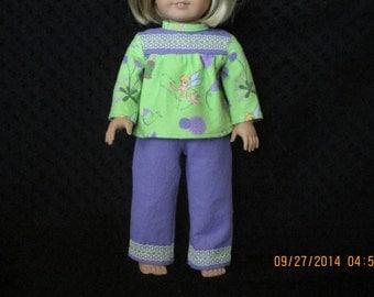 American girl Tinkerbell pajamas