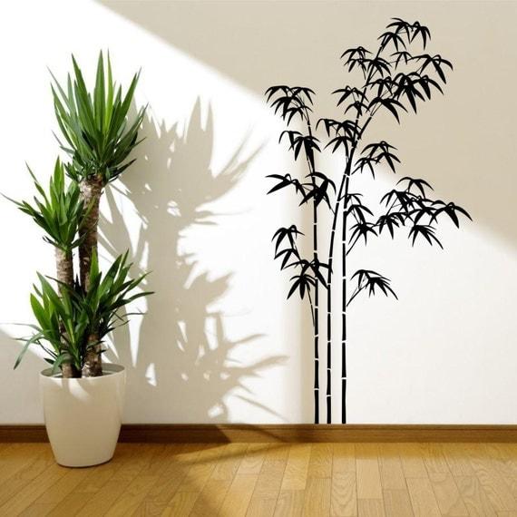 Wandtattoo bambus schablone reuniecollegenoetsele - Wandsticker bambus ...