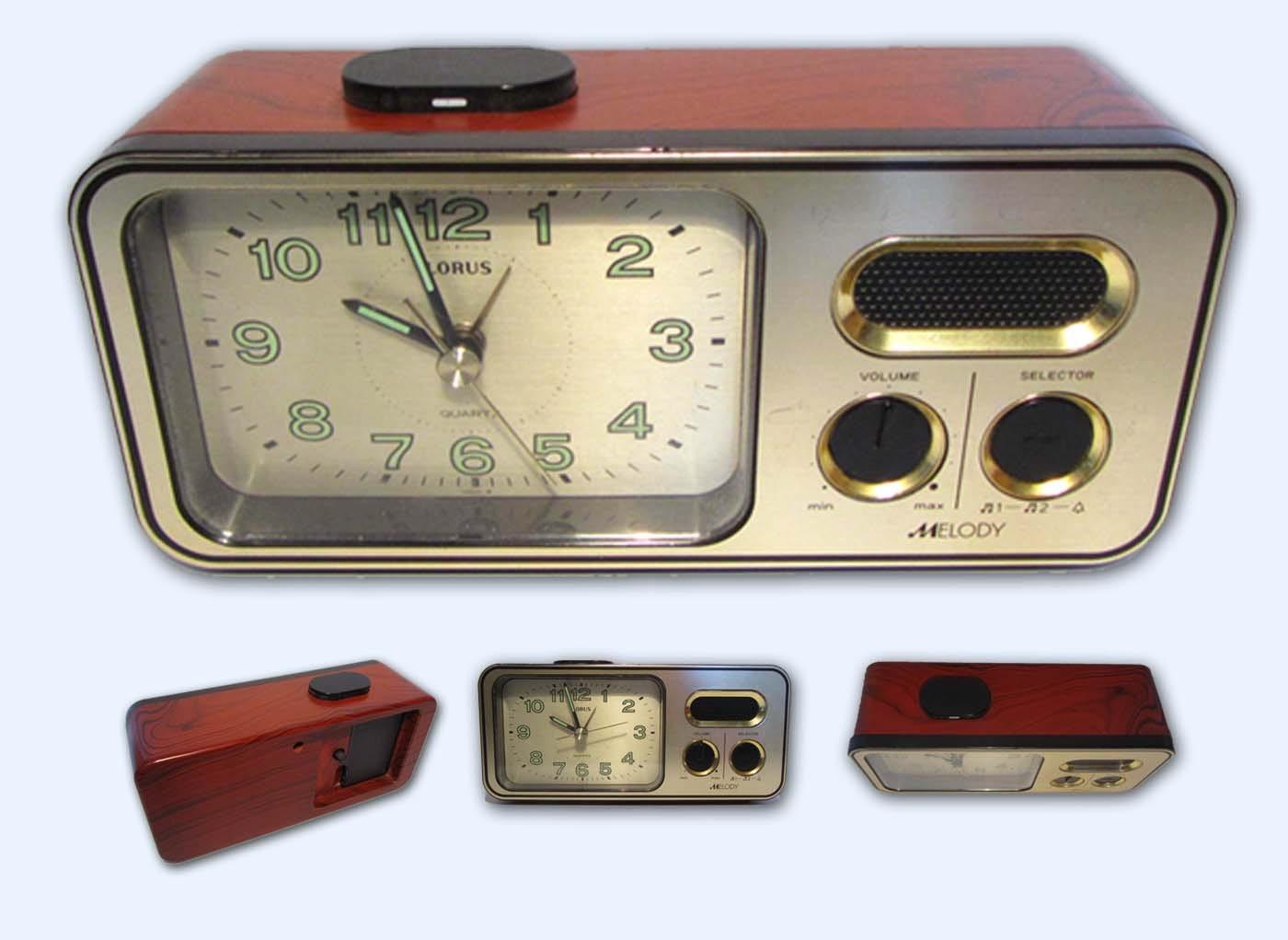 vintage retro lorus radio r veil alarme 3 m lodie. Black Bedroom Furniture Sets. Home Design Ideas