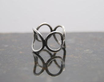Mod Ring of Silver Circles