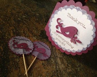 Lilac Bird Birthday Cupcakes Kit