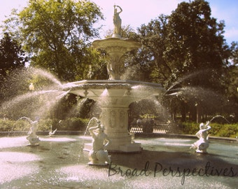 Forsyth Fountain Photo from Savannah, GA - Digital Download