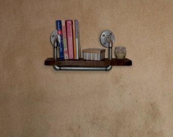 Industrial Steel Pipe Pallet Wood Shelf