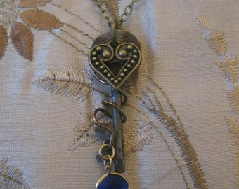 Skeleton key with charms