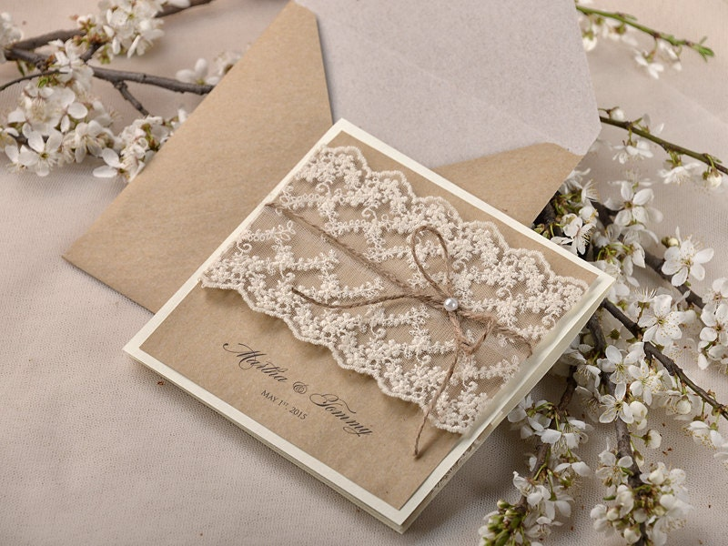 Wedding Invitations Recycled Paper: Custom Listing (40) Recycling Paper, Lace Wedding