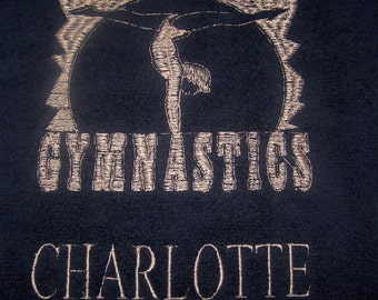 Personalised embroidered  Gymnastics  bath towel (100% cotton)