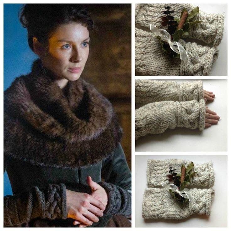 Knitting Pattern Outlander : Outlander Inspired Claires Fingerless Gloves or by fall4handmade