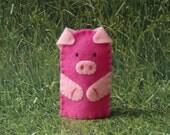 Little Piggy Finger Puppet - Pink Pig Puppet - Felt Finger Puppet Pig - Farm Animal Puppet - Pink Pig Finger Puppet