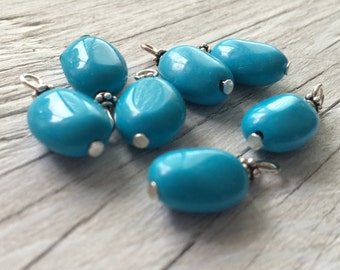 Beaded gemstone charms Howlite gemstone beaded dangles 2