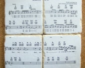 "The Beatles ""Blackbird"" Sheet Music Coasters"