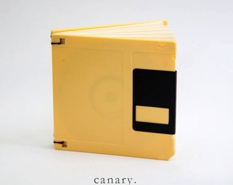 Floppy Disk Handbound Blank Journal - Upcycled Repurposed Computer Parts - Great Geek Gift