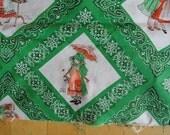 Vintage Holly Hobbie American Greetings Yardage Fabric Bandana Print