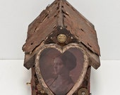 Promises- Mixed Media Assemblage - OOAK sculpture made from found objects