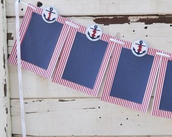 Boy Nautical 12 Month Photo Banner- 1st Birthday