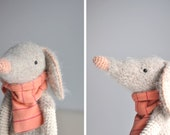 Lucas, the animal with the striped scarf - Crocheted - Plushie - Stuffed Toy - Amigurumi