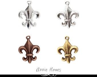 Fleur de Lis Charm. France and New Orleans Emblem. Sold as single charm.