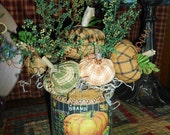 Primitive Folk Art Canned Pumpkin Decoration  FAAP OFG