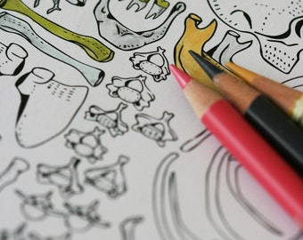 Colour In Collaboration No. 7 - Printable Colour In Pages