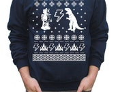 Cyber Monday Ugly Christmas Sweater Geeky Pullover Sweatshirt S M L XL XXL