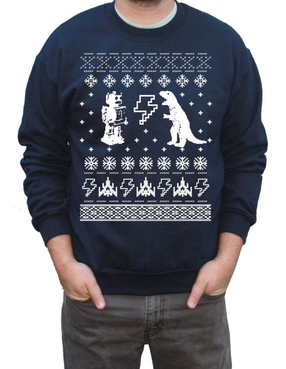 Items similar to Cyber Monday Ugly Christmas Sweater Geeky ...