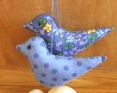 Primitive  Fantasy Blue Bird Bowl Filler Ornament Decorations