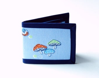 Fungi and Strawberries Billfold - Vegan Friendly Wallet