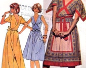 70s Wrap dress boho dress retro summer style vintage sewing pattern McCalls 5433 Bust 36 to 38