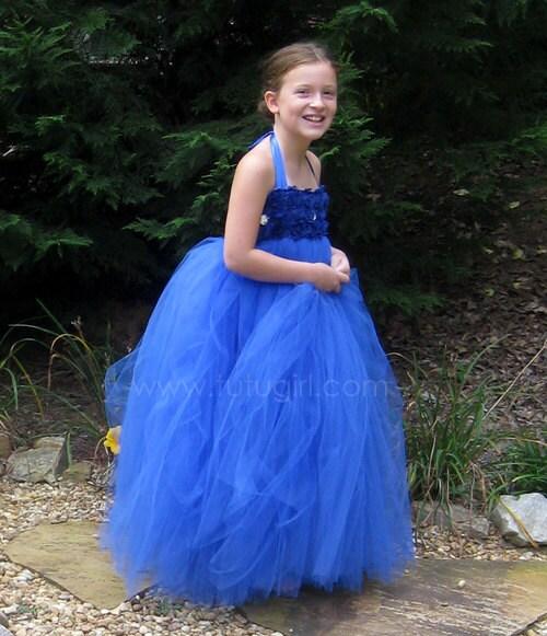 Flower Girl Dress Royal Blue Tutu Dress Baby Toddler By
