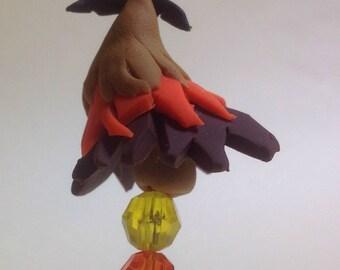 Halloween Tree Ornament w/Bat